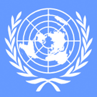 Graphic of the United Nations logo