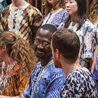 Photo of the Macalester African Music Ensemble