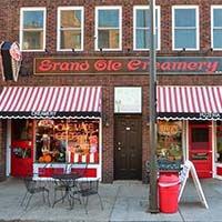 Photo of the exterior of the Grand Ole Creamery