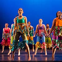 Photo of a group of dancers on stage