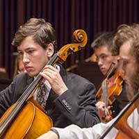 Photo of students in an orchestra