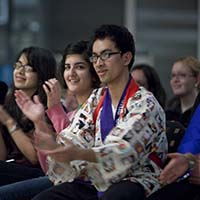 Photo of students applauding