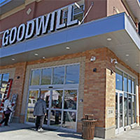 Photo of the exterior of a Goodwill