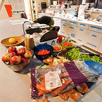 Photo of a countertop full of vegetables