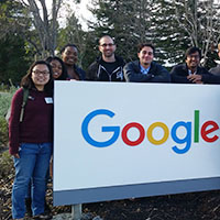 Photo of students at Google headquarters