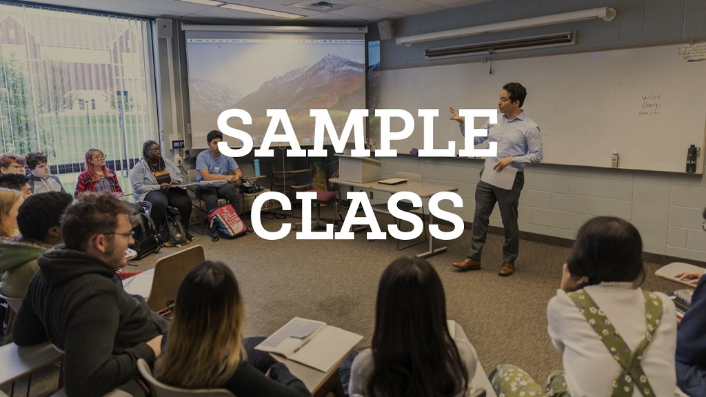Sample Class offered for admitted students
