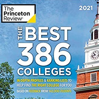 Princeton Review 2021 The Best 386 Colleges