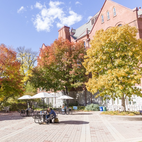 Marvin Plaza Macalester in Fall