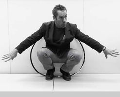 ron barret inside a hula hoop