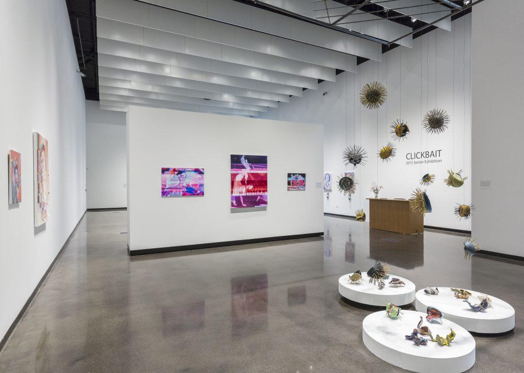 Clickbait, the 2015 Senior Studio Art Major exhibit.
