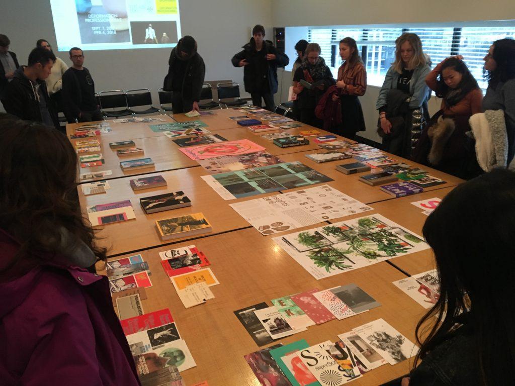 2D Design Class Visits the Walker Art Center Design Department