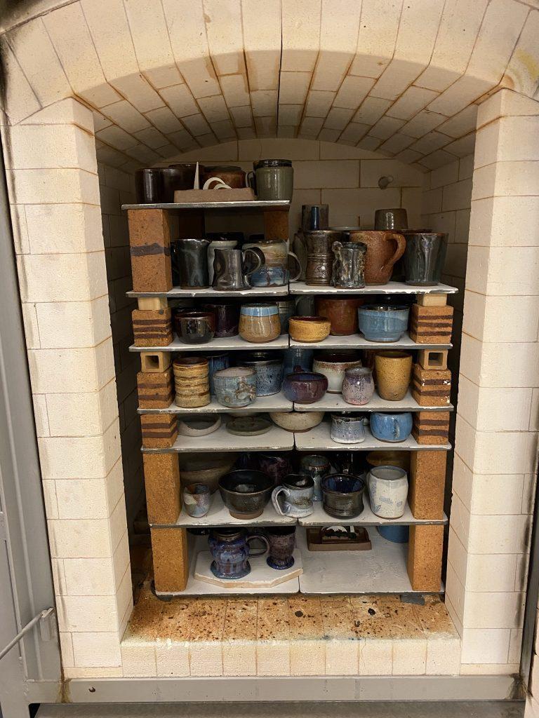 Kiln Full of Student Ceramics Work