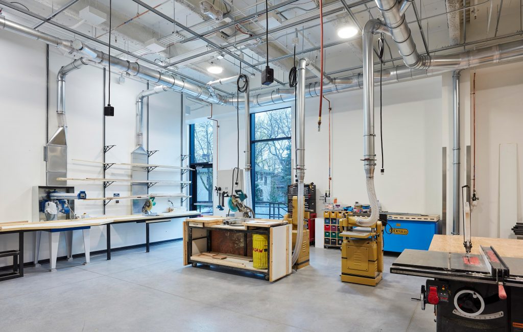 Photo of the Macalester scene shop