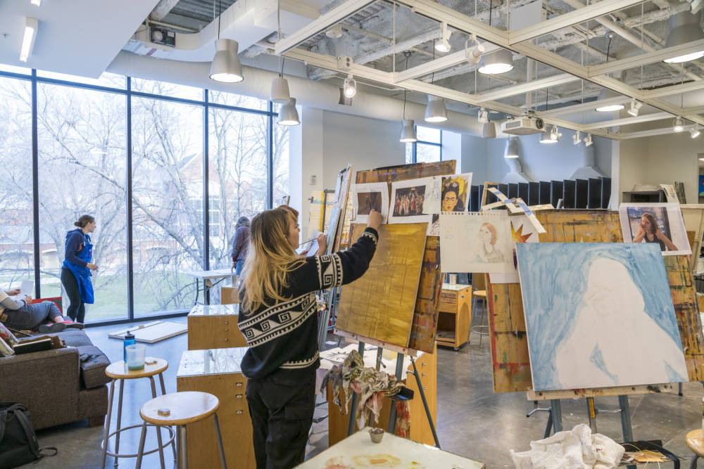 Students working in the Painting Studio.