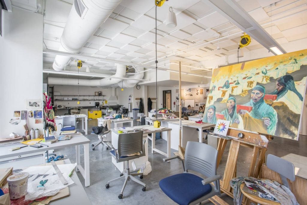 Student work-in-progress in the Whaley Senior Studio.