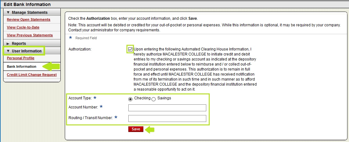 Pcard Statement – Entering Out-Of-Pocket Expenses