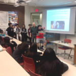 Local youth visit a Macalester classroom as part of the College Access program.