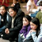 Elementary student Macalester visit
