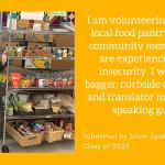 Julian Applebaum '23 volunteers at a food pantry