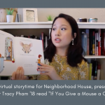 Tracy Pham '18 reads online to preschoolers