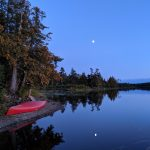 Photo of a canoe at dusk in the Boundary Waters Canoe Area Wilderness
