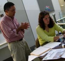 Keith Kuwata with student