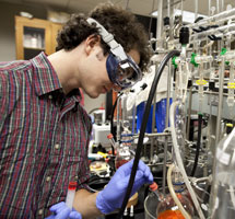 Nick O'Connor in lab