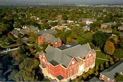 An ariel view of Macalester Dewitt Wallace Library