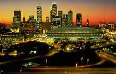 The Minneapolis skyline at night