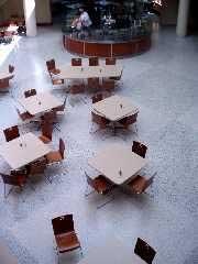 The dining area in Café Mac