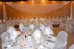 A reception headtable in the A. G. Hill Ballroom