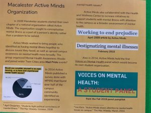 Macalester Active Minds Organization Flyer