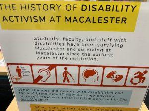 History of Disability Activism at Mac Poster
