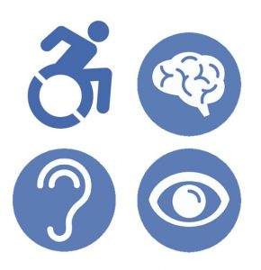 Disability light blue logo
