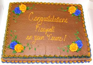 Prof. Phadke's Tenure Cake