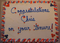 Chris Wells' Tenure Cake