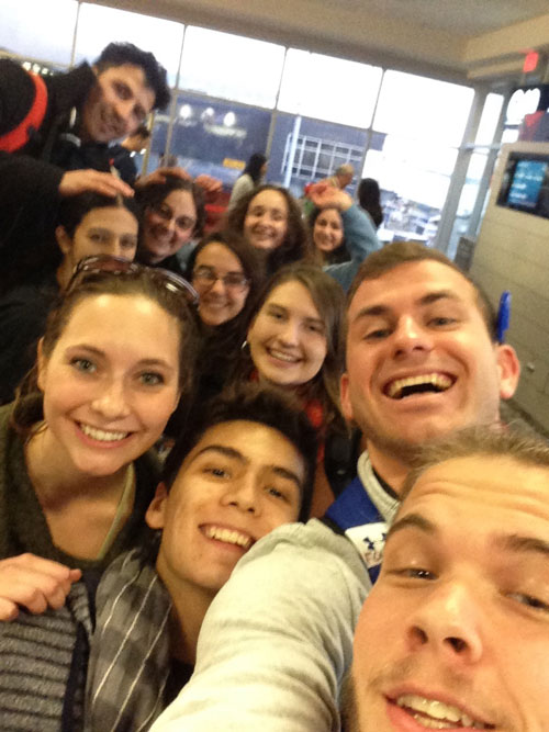 Students on their way to Paris!