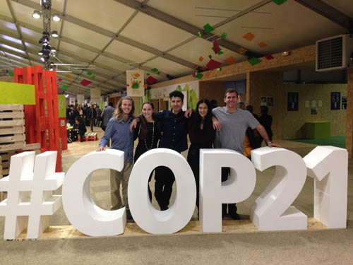 Students in the Climate Generations Pavilion