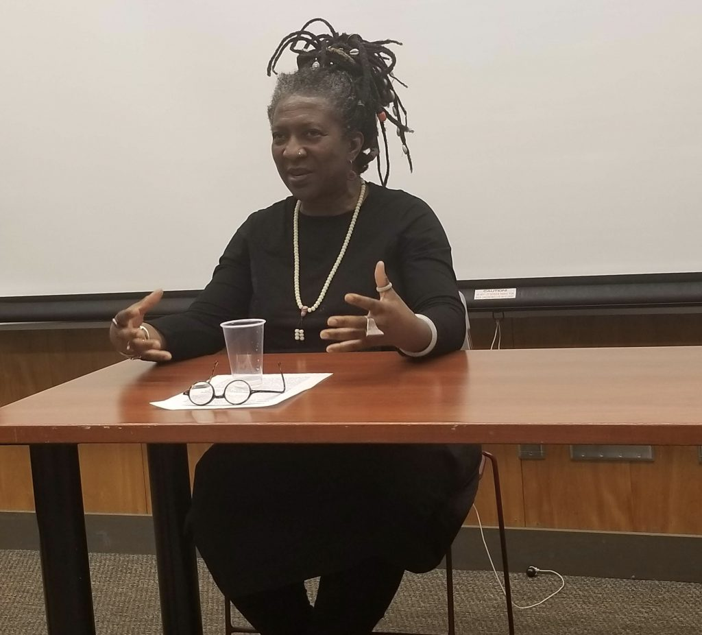 "Filmmaker and Professor Frieda Ekotto from the University of Michigan, screened her documentary ""Vibrancy Of Silence"""