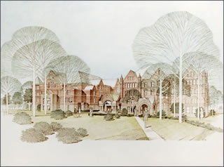 Plans for a New Macalester Library, 1982