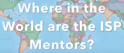 Image of a world map that links to the Mentor Where in the World Video