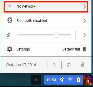 Chromebook wifi selection
