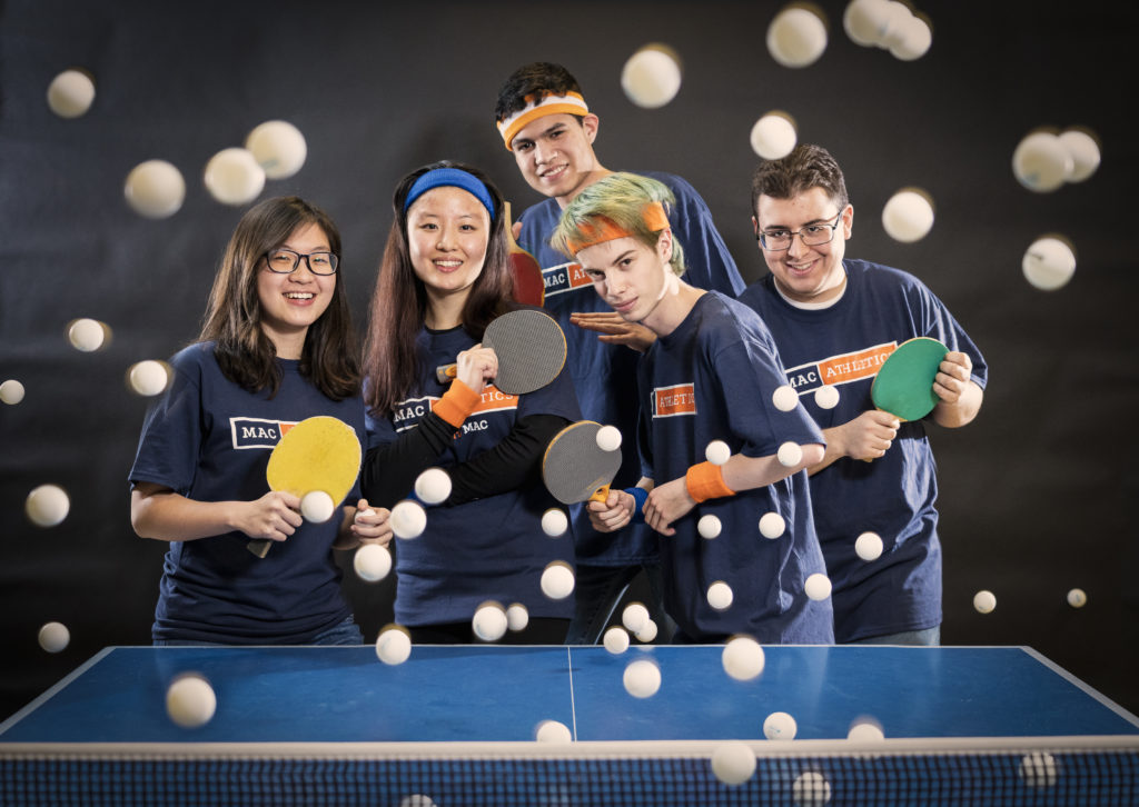 Ping Pong Club posing for a quick photo