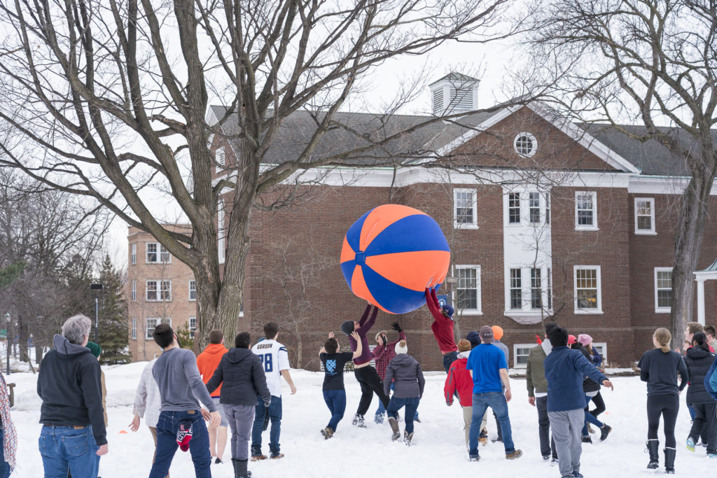 Pushball, an annual campus tradition
