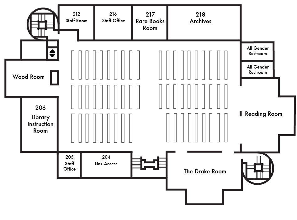 Map of the Second Floor