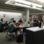 image of study spaces on level 2