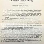 Regulations governing dancing, 1920