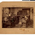 Dr. Forbes' class in Chemistry Laboratory, 1889