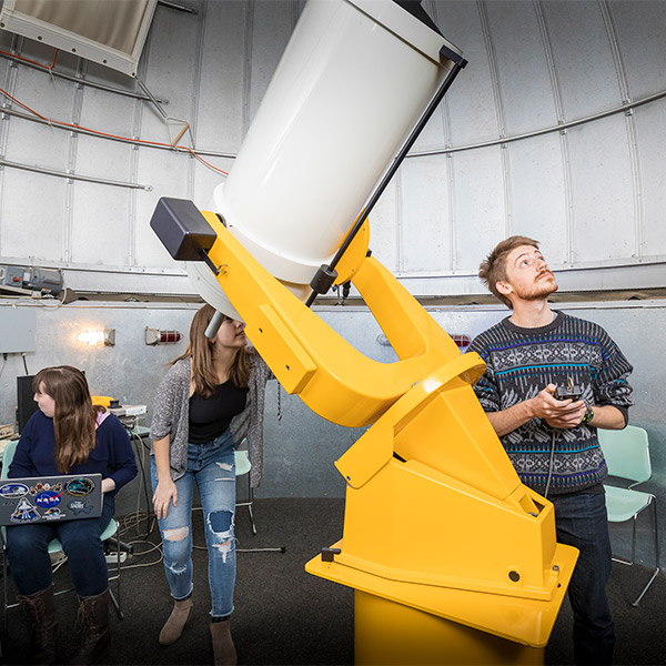 Students using the observatory.