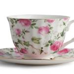 Tea cup and saucer.